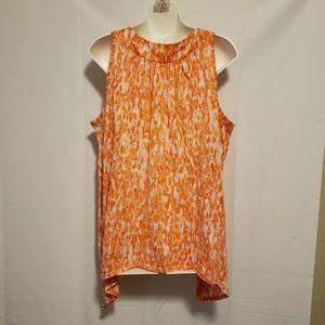 Faded Glory Sleeveless Orange Blouse